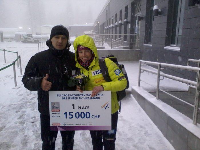 фото с чемпионкой по лыжным гонкамФото0007