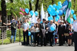 Первомайское шествие КБГУ