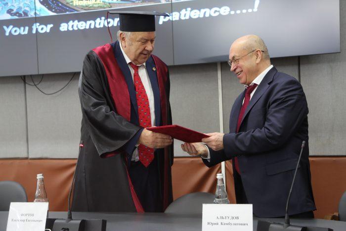 Академик РАН Владимир Фортов стал почетным профессором КБГУ