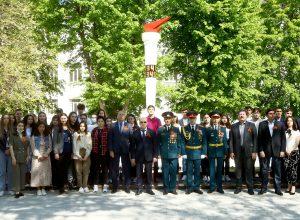 В КБГУ отметили 76-ю годовщину Великой Победы