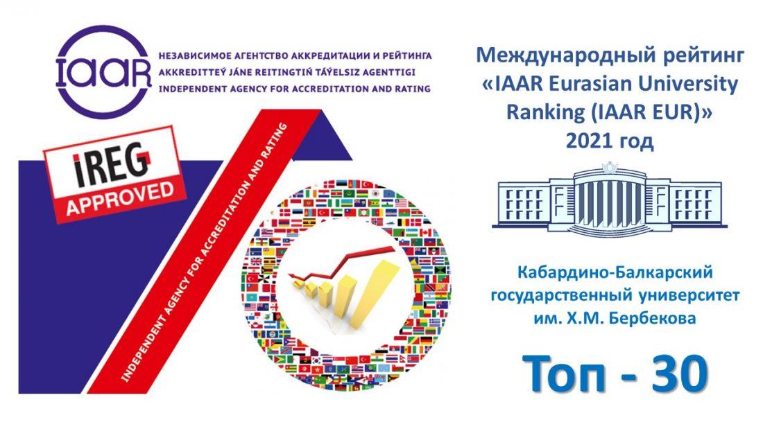 КБГУ второй год подряд подтверждает международное признание Независимого агентства аккредитации и рейтинга IAAR
